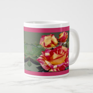 Yellow Pink Roses Jumbo Mug