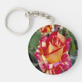 Yellow Pink Roses Key Chain