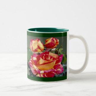 Yellow Pink Roses Mug