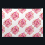 "Yellow Pink Watercolor Rose Pattern Cloth Placemat<br><div class=""desc"">Placemats printed with original mixed media rose pattern.</div>"