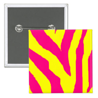 Yellow & Pink Zebra Pin
