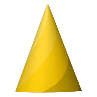 Yellow Pinwheel Stripes Party Hat