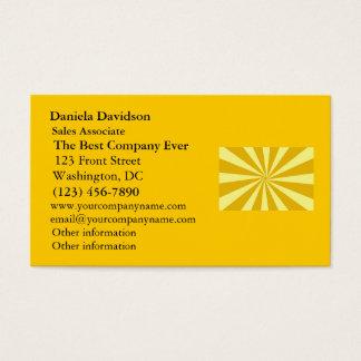 Yellow Pinwheel Sun Beams Business Card