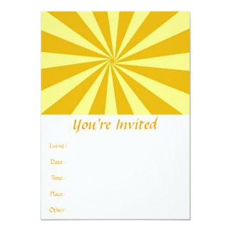 Yellow Pinwheel Sun Beams Card