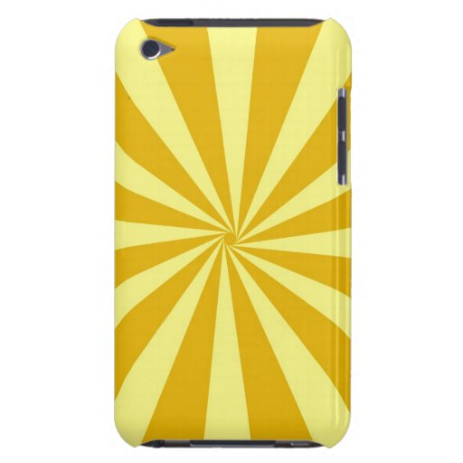 Yellow Pinwheel Sun Beams Case-Mate iPod Touch Case