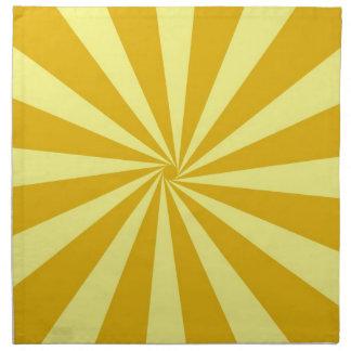 Yellow Pinwheel Sun Beams Cloth Napkin