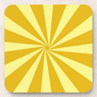 Yellow Pinwheel Sun Beams Coaster