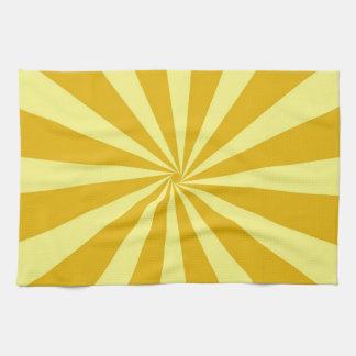 Yellow Pinwheel Sun Beams Kitchen Towel
