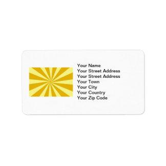 Yellow Pinwheel Sun Beams Label