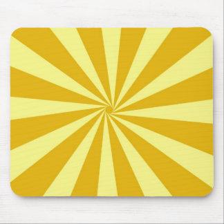 Yellow Pinwheel Sun Beams Mouse Pad