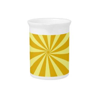 Yellow Pinwheel Sun Beams Pitcher