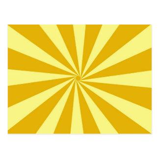 Yellow Pinwheel Sun Beams Postcard