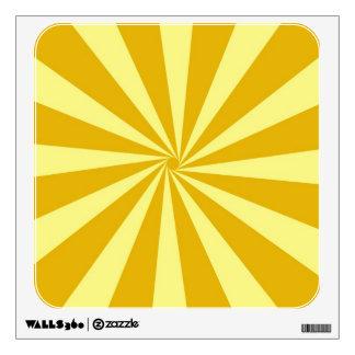 Yellow Pinwheel Sun Beams Wall Skin