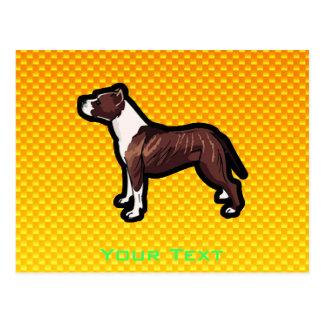 Yellow Pitbull Postcard
