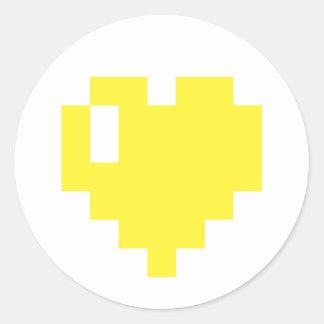 Yellow Pixel Heart sticker