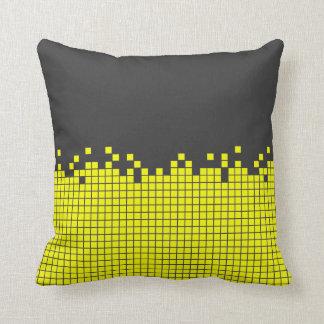 Yellow Pixels Computer Geek pillow