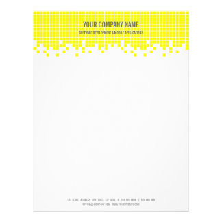 Yellow Pixels Hi-Tech Computer Business letterhead