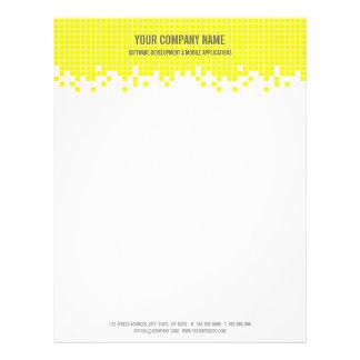 Yellow Pixels Hi-Tech Computer Business letterhead