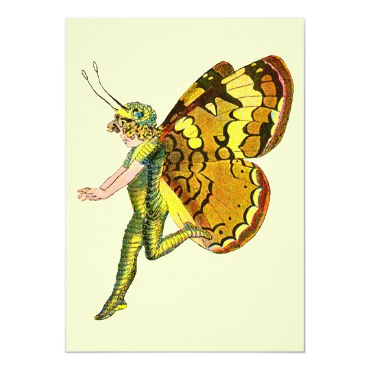 Yellow Pixie Fairy Card