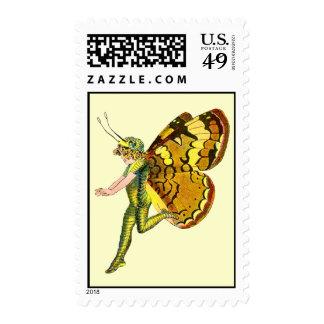 Yellow Pixie Fairy Postage