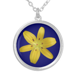 Yellow Pixie Lily Pendant Necklace