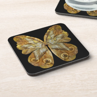 Yellow Pixie Steampunk Butterfly Coaster