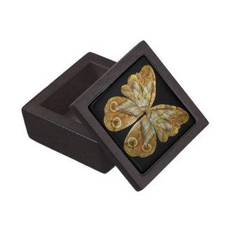 Yellow Pixie Steampunk Butterfly Jewelry Box