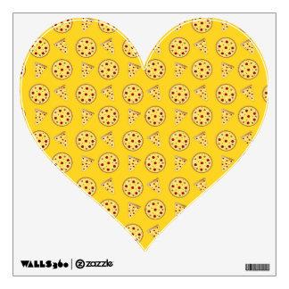 Yellow pizza pattern wall decor
