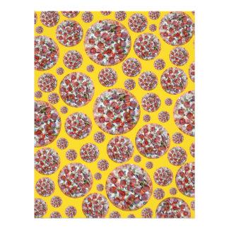 Yellow pizza pie letterhead