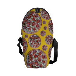 Yellow pizza pie courier bag