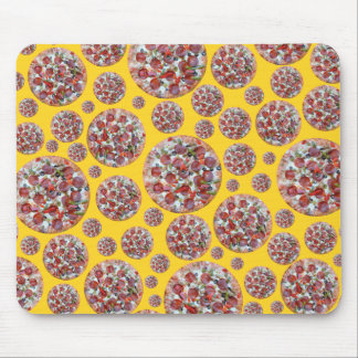 Yellow pizza pie mouse pad