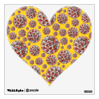 Yellow pizza pie wall graphics