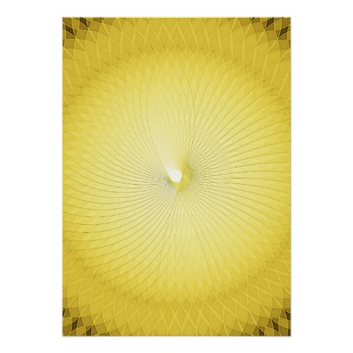 Yellow Plafond Poster