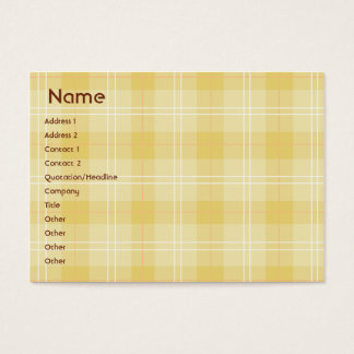Yellow Plaid - Chubby Business Card