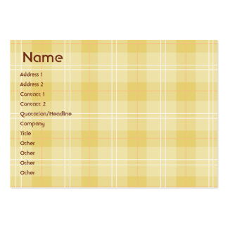 Yellow Plaid - Chubby Large Business Card
