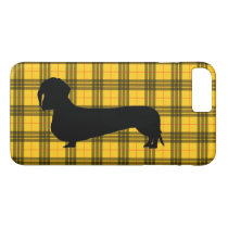 Yellow Plaid Dachshund Pattern Preppy iPhone 8 Plus/7 Plus Case