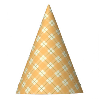 Yellow Plaid Party Hat