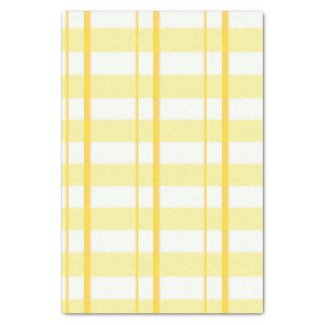 Yellow Plaid Tissue Paper