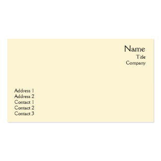 Yellow Plain - Business Double-Sided Standard Business Cards (Pack Of 100)