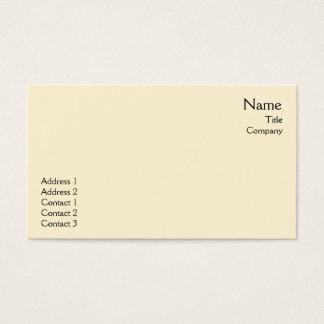 Yellow Plain - Business Business Card