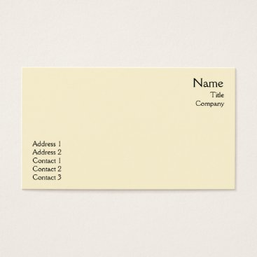 Professional Business Yellow Plain - Business Business Card