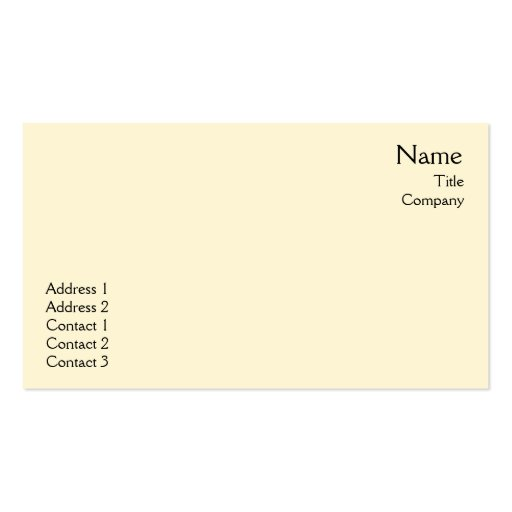 Yellow Plain - Business Business Cards