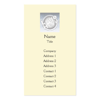 Yellow Plain Vertical - Business Double-Sided Standard Business Cards (Pack Of 100)