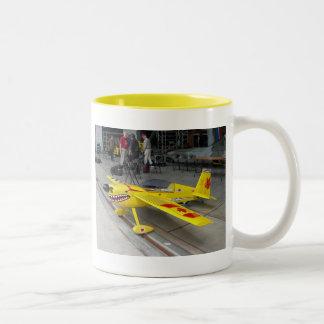 Yellow plane mug