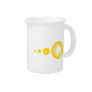 Yellow Play Button Drink Pitchers