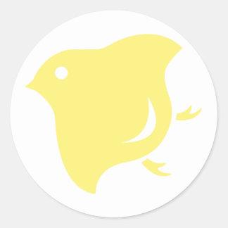 yellow plover sticker