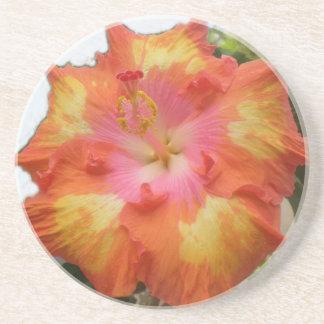 Yellow Plumeria Coaster