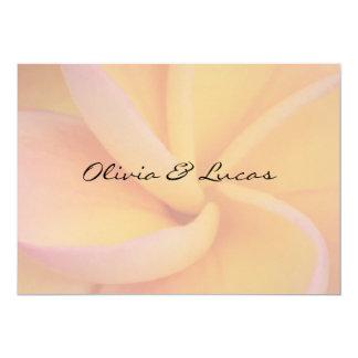 Yellow Plumeria Wedding Custom Announcements