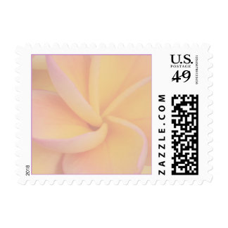 Yellow Plumeria Wedding Stamp