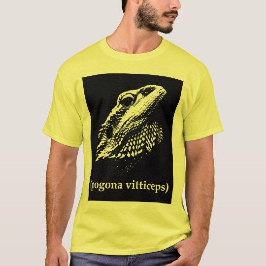 yellow pogona vitticeps bearded dragon T-shirt